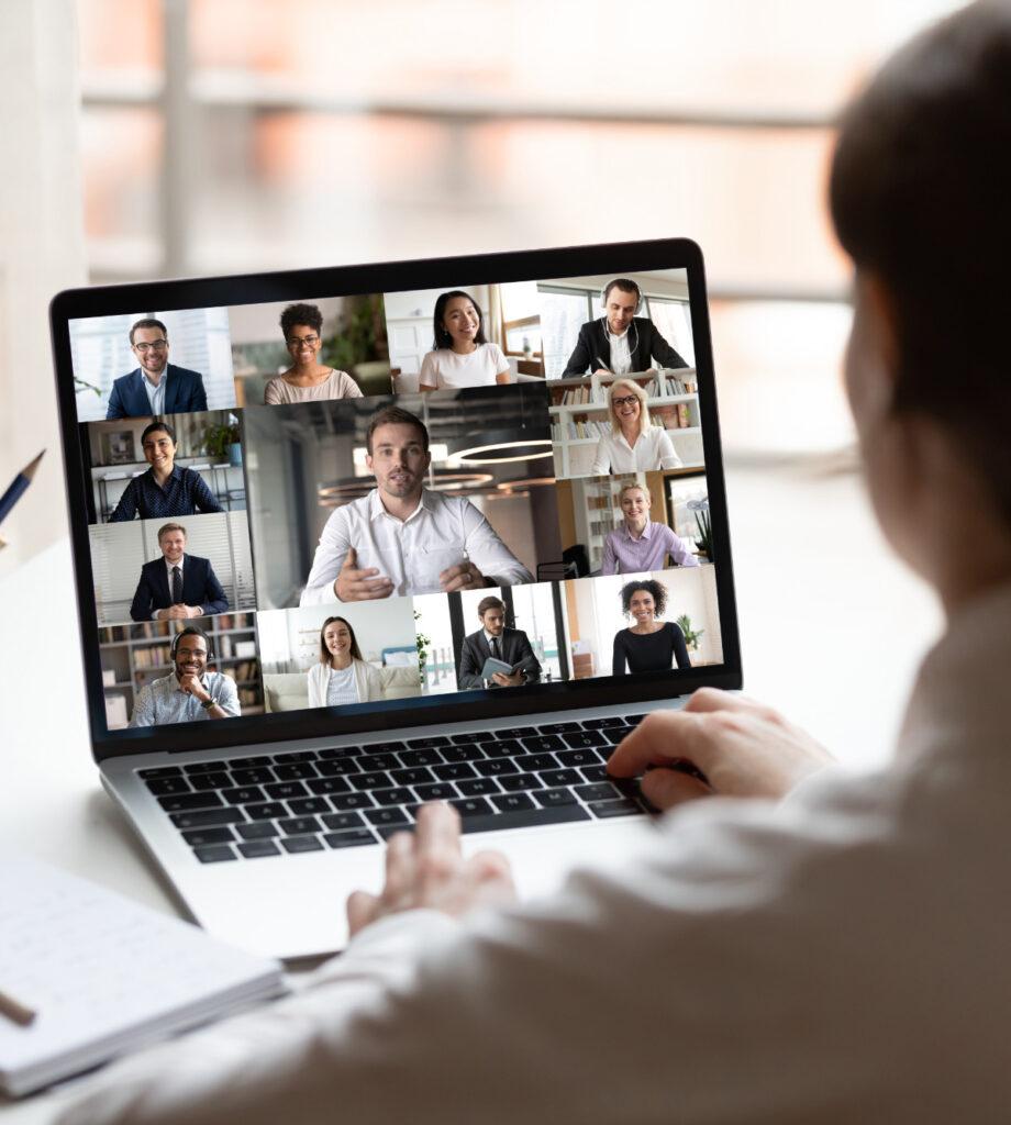 Meeting über Laptop